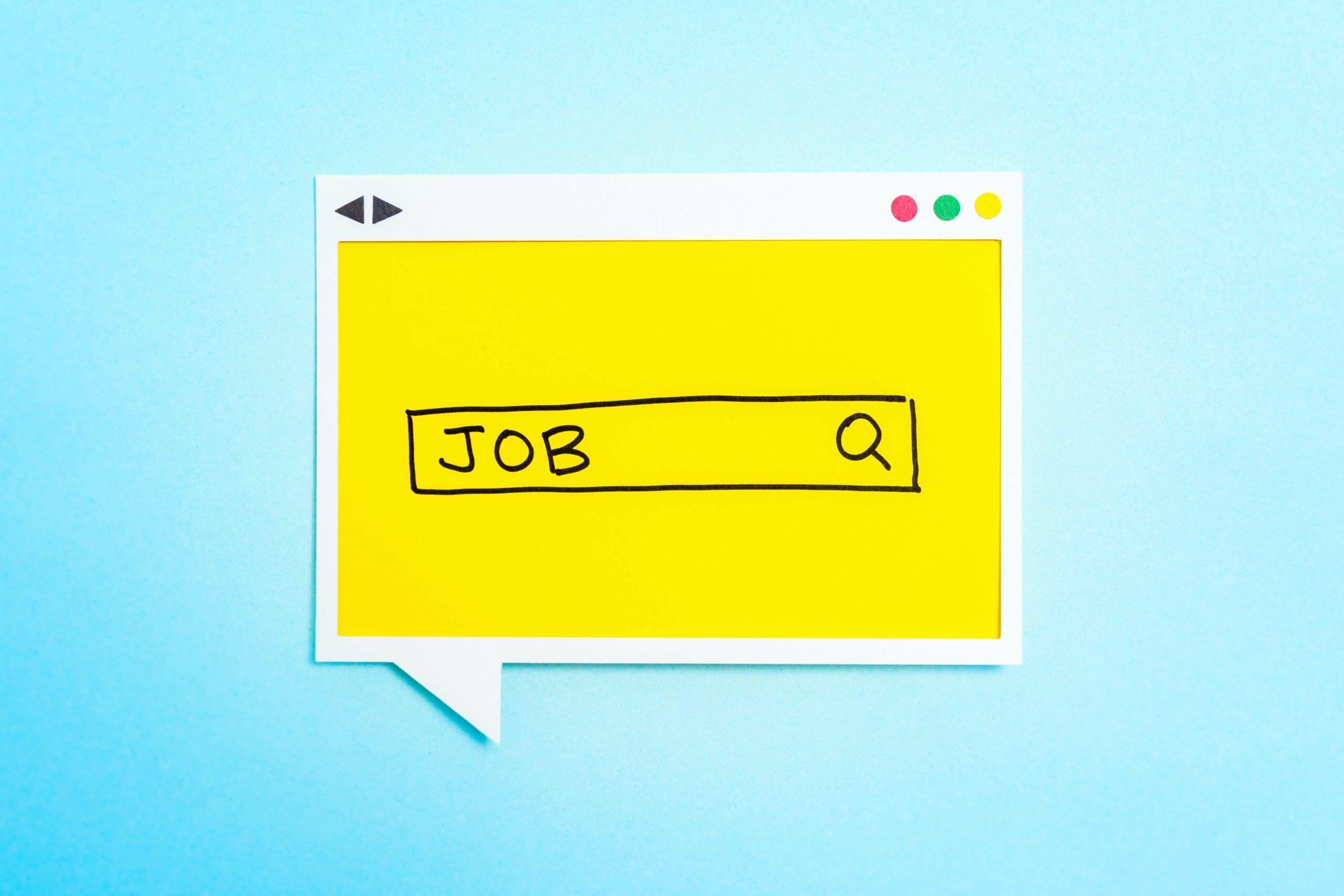Illustration avec le mot Job