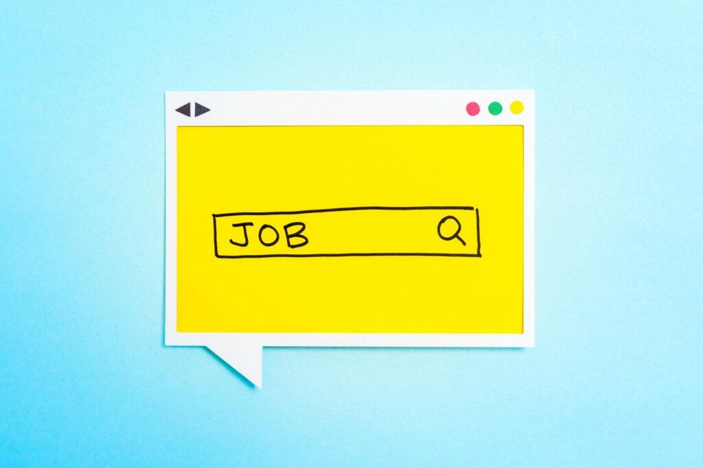 Illustration du mot Job écrit à la main